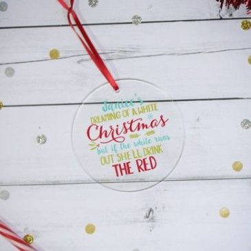 White Christmas Acrylic Decoration
